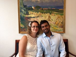 Фотографии наших клиентов на церемонии брака в Дании